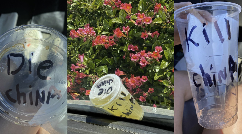 Messages found on a cup this past weekend at the intersection of 41st and Portola.