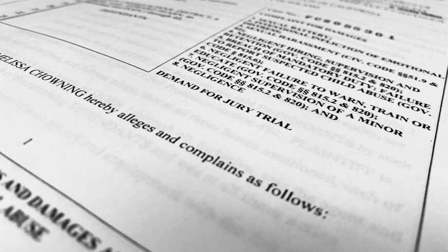 Litigation filed in September is seeking damages from an SLVUSD administrator.