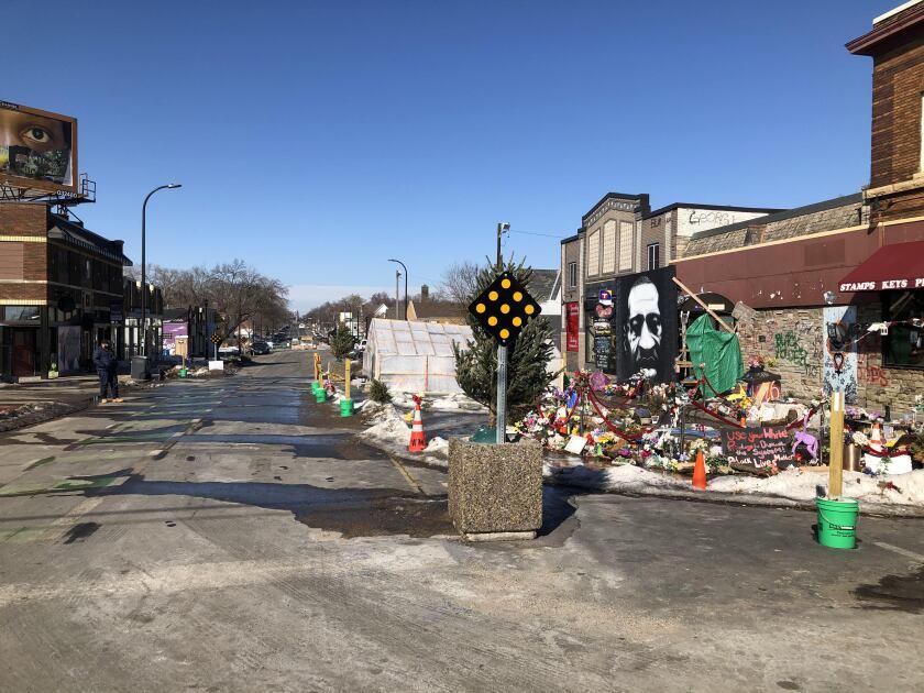 Streets around George Floyd Square in Minneapolis
