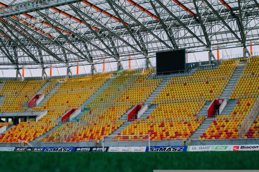 Empty stadiums and arenas and venues are not something bigtime athletes are accustomed to.