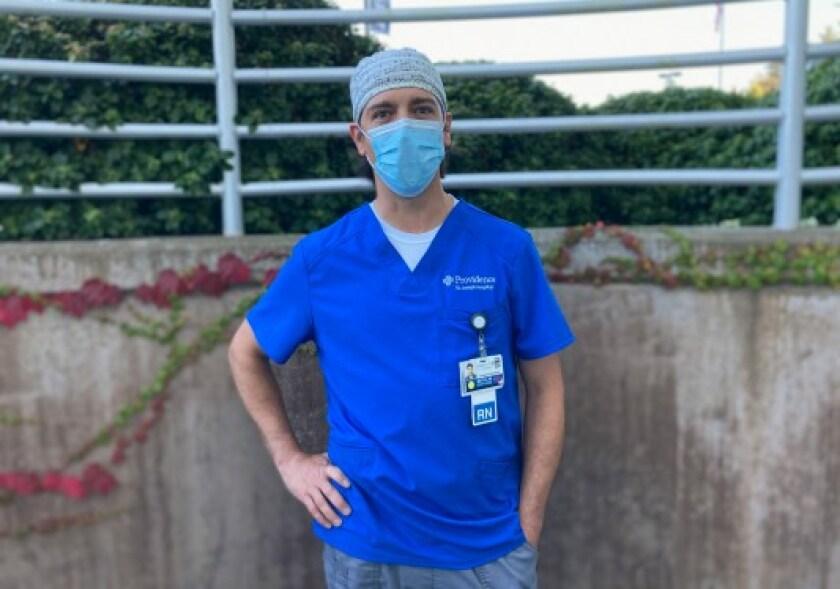 Matt Miele, a trauma nurse