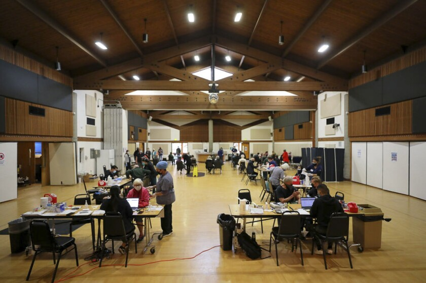 An OptumServe clinic in the Rohnert Park Community Center in Sonoma County.