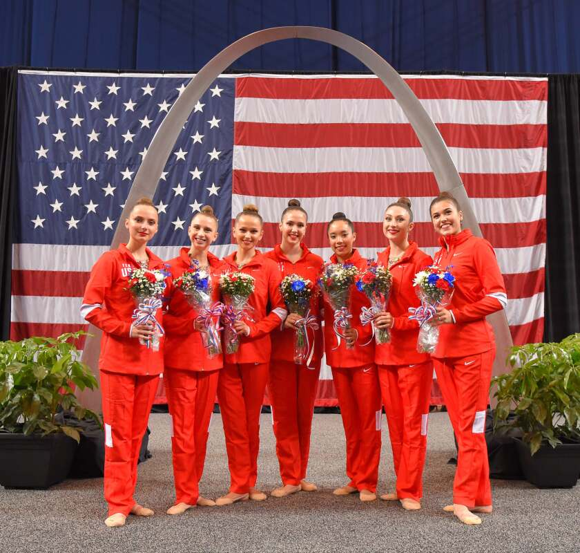 UC Santa Cruz's Isabelle Connor (second from the right) will be the first athlete from the school to head to the Olympics.