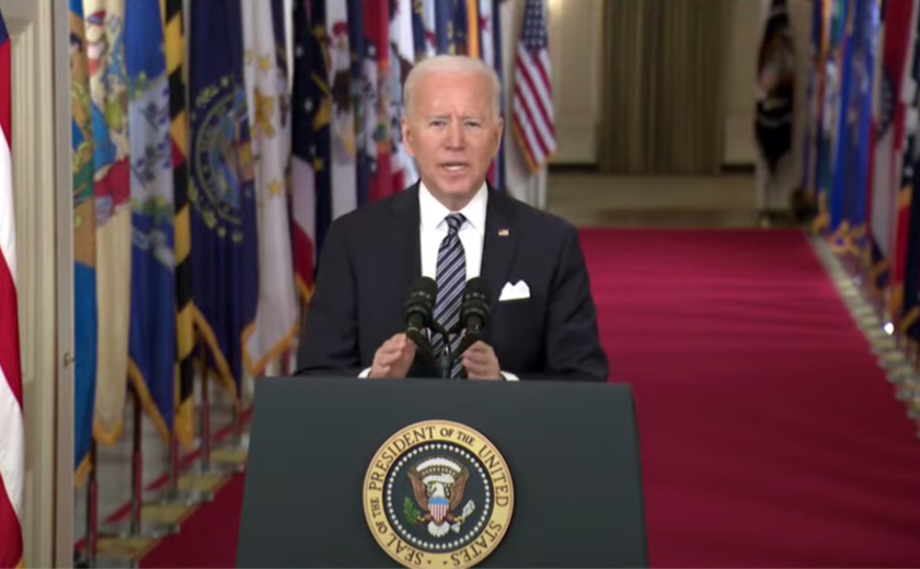 President Joe Biden addresses the nation Thursday.