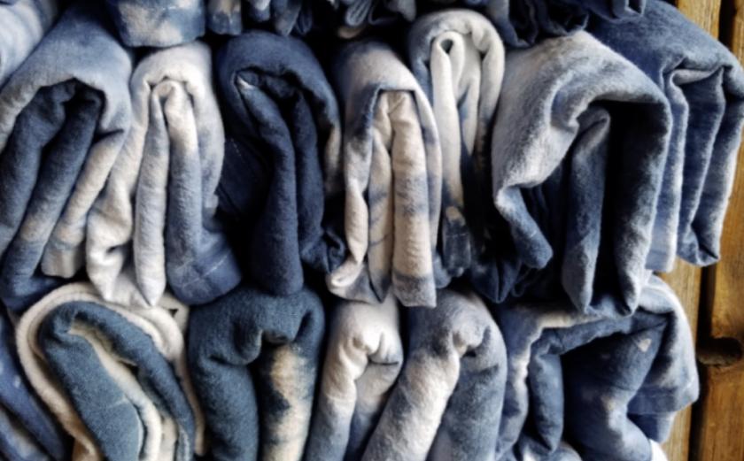 Indigo towels