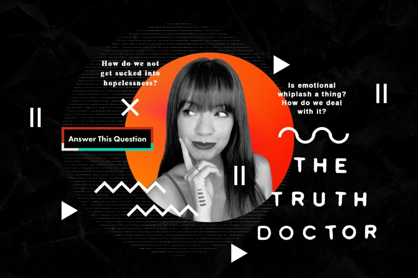 An illustration of TikTok-famous therapist Dr. Courtney Tracy