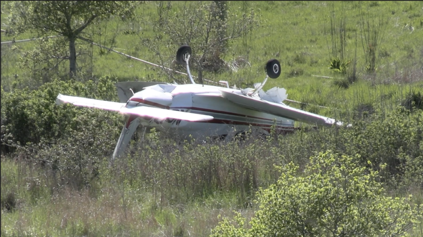 A small plane crashed on the afternoon of March 28, 2021 near Pajaro Valley High School.
