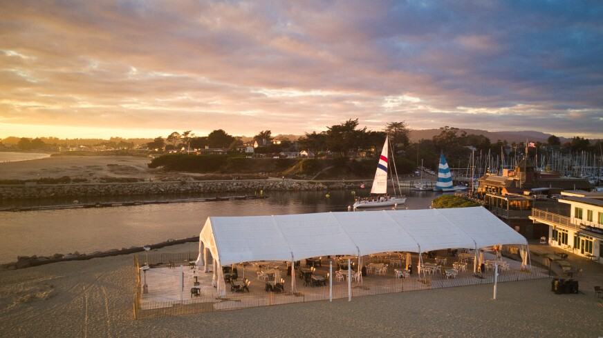 The Crow's Nest in Santa Cruz Harbor has been one of outdoor dining's success stories amid the bleak pandemic.