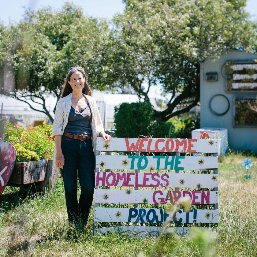Homeless Garden Project Director Darrie Ganzhorn.