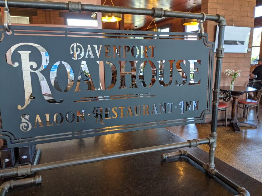 Inside the historic Davenport Restaurant and Inn in Davenport.