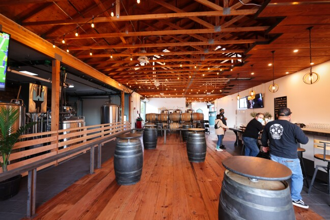 The cool vibe of Woodhouse Brewing's new space.