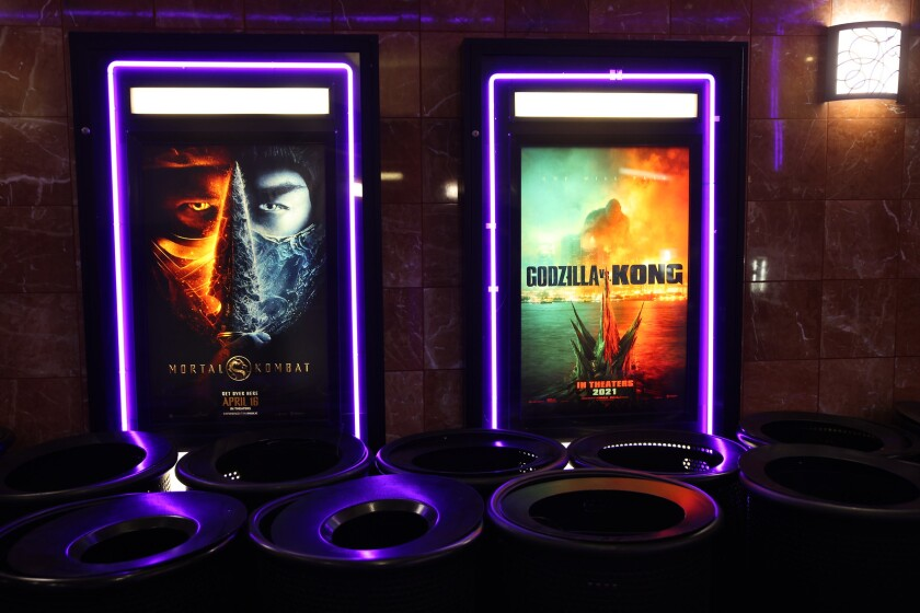 Posters for the movies Mortal Kombat and Godzilla vs. Kong