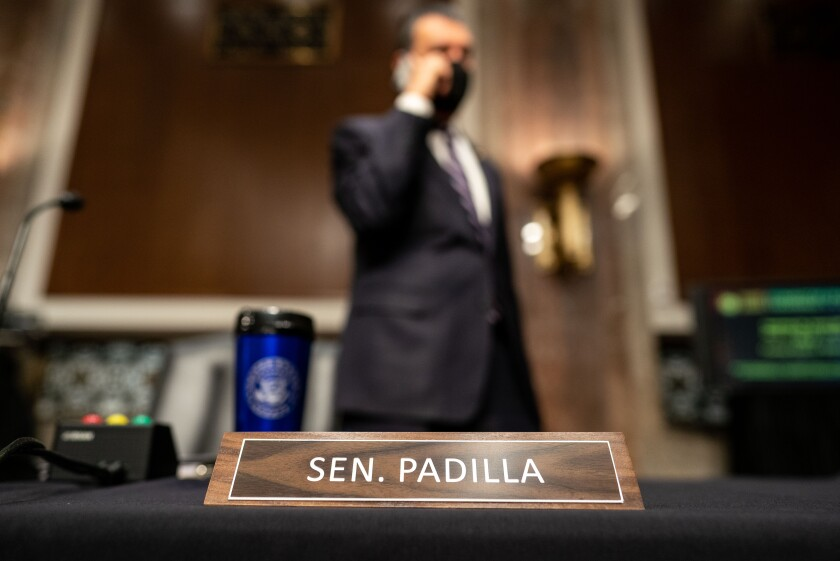 Sen. Alex Padilla (D-CA) on Capitol Hill