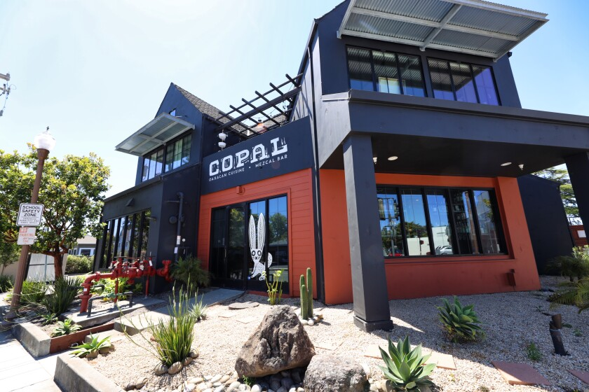 Located at the corner of Mission and Laurel Streets in Santa Cruz, Copal is hard to miss.