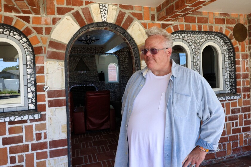 Douglas Harr, one of the owners of the Court of Mysteries property in Santa Cruz.