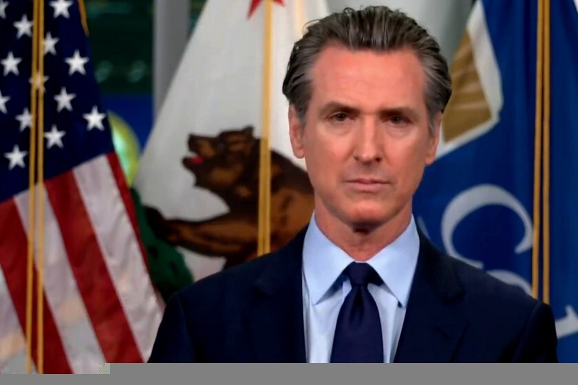 Gov. Gavin Newsom announced a voluntary app to alert people if they were in contact with someone who tested positive.