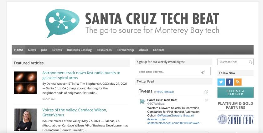 The Santa Cruz Tech Beat website, launched in 2013 by Sara Isenberg