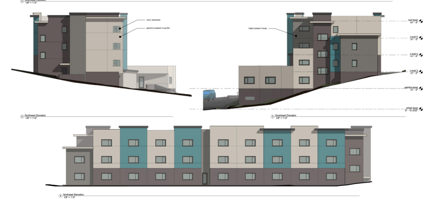 Preliminary renderings of a residential development at 314 Jessie St.