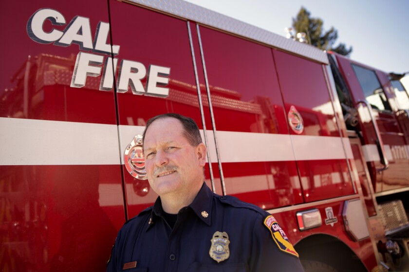 Cal Fire CZU chief Ian Larkin.