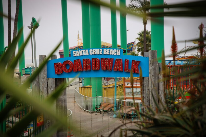 The Santa Cruz Beach Boardwalk received the county's second-largest PPP loan last year.