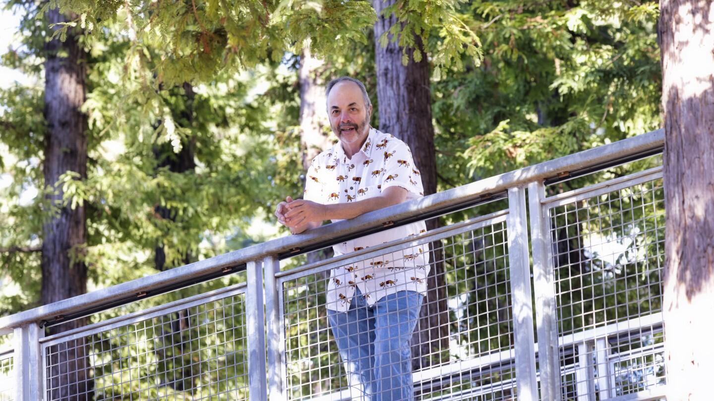 Lookout Santa Cruz CEO and Founder Ken Doctor on the UC Santa Cruz campus