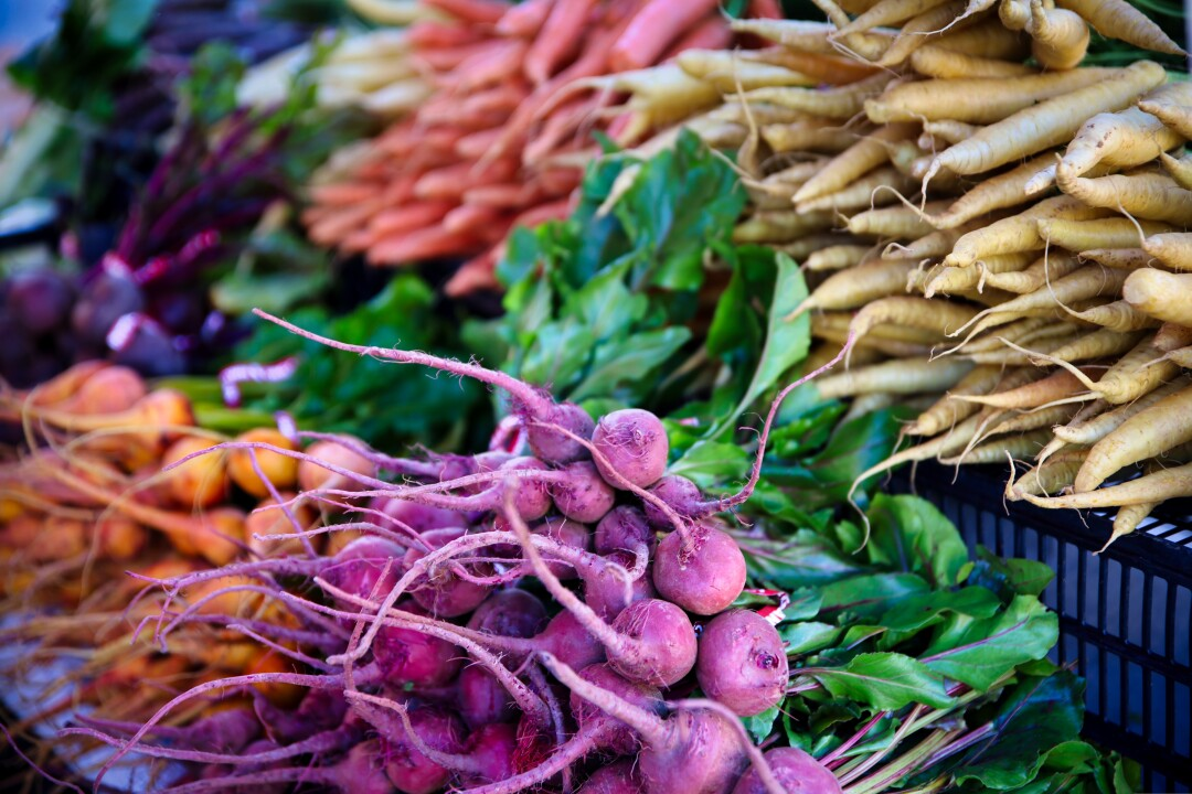 The colors of the farmers' market never fail.