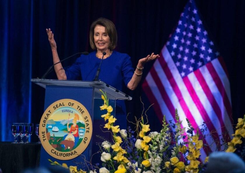 House Speaker Nancy Pelosi speaks
