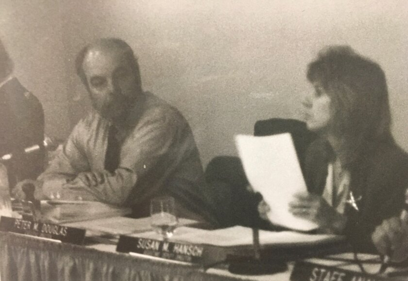 Susan Hansch, right, was tapped by Peter Douglas, left, in 1999 to be his chief deputy.