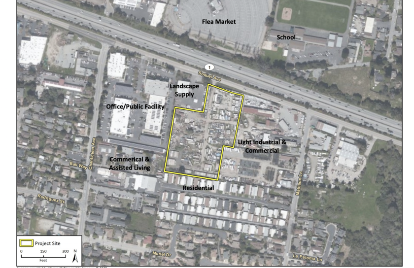 A screenshot from the proposed 5940 Soquel Avenue Kaiser Permanente medical building project EIR.