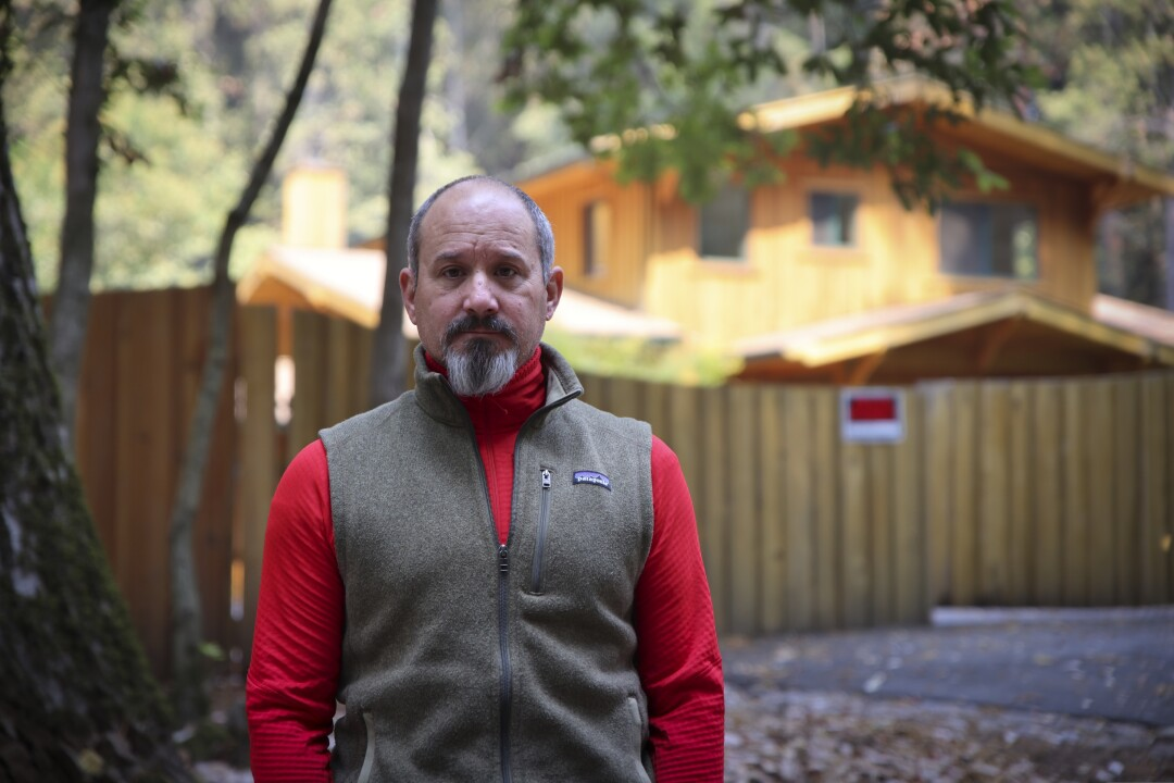 Mike Geluardi is helping rally the community against the placement of Michael Cheek on Wild Iris Lane.