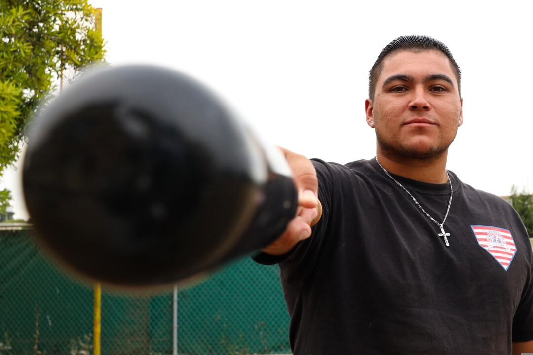 Ruben knows how to use the barrel of his bat.