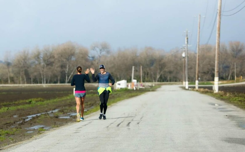 Katie and Tommy training in Pajaro.