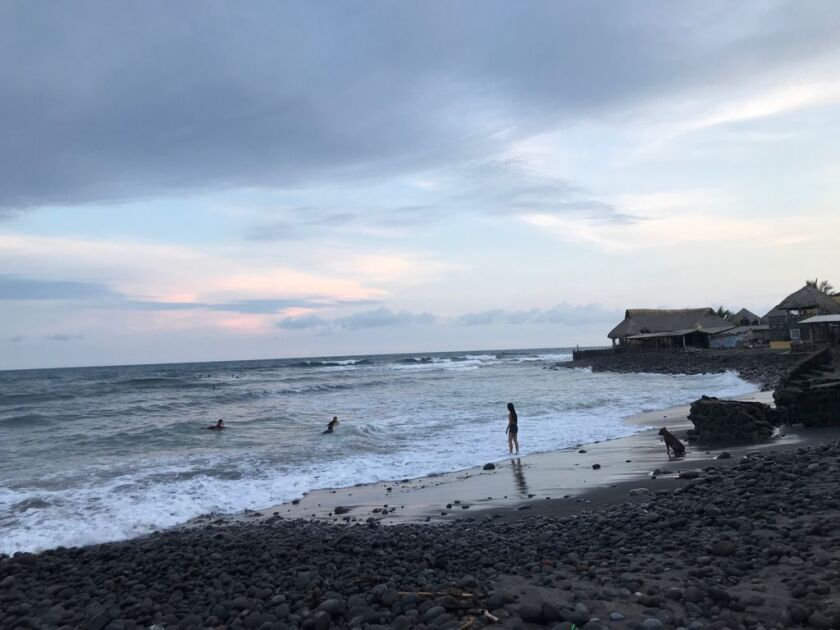 The waves in El Zonte, a town of 3,000 in El Salvador that has become known as Bitcoin Beach.