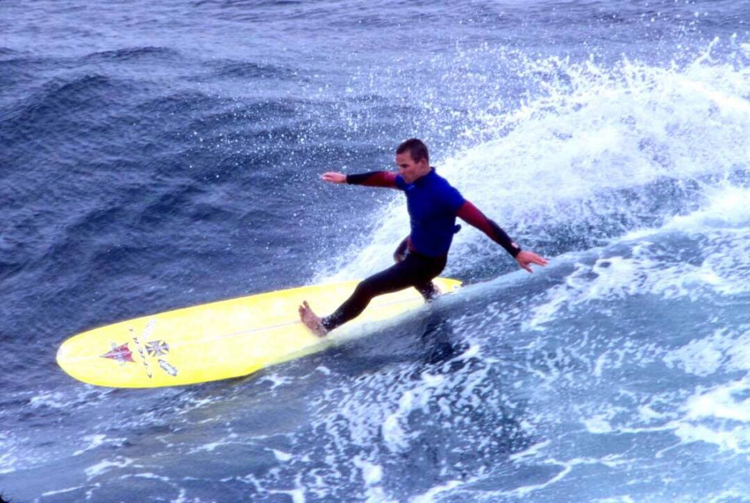 Along with riding big waves, Jay had a gift for longboard style.
