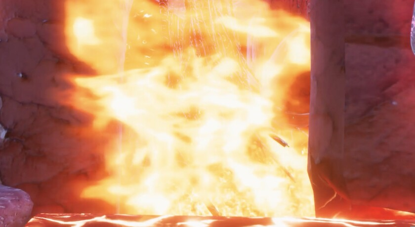"""A screenshot from Haoran Chang's project entitled """"Fair Sai Re Pi (Fire Therapy)."""""""