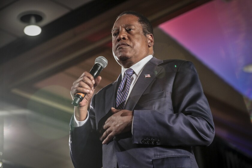 Recall candidate Larry Elder