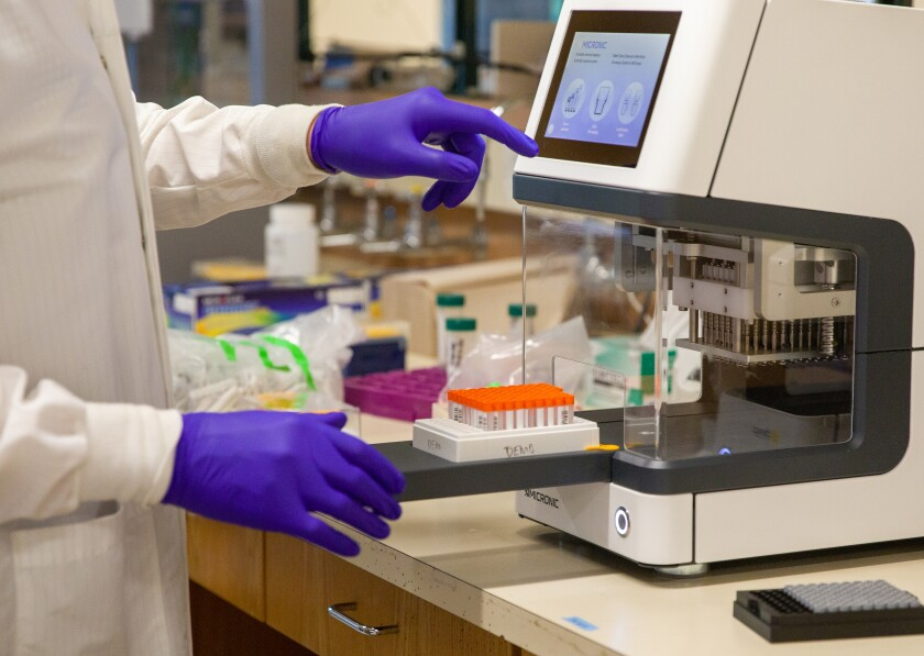 COVID-19 tests are performed UCSC Molecular Diagnostic Lab.