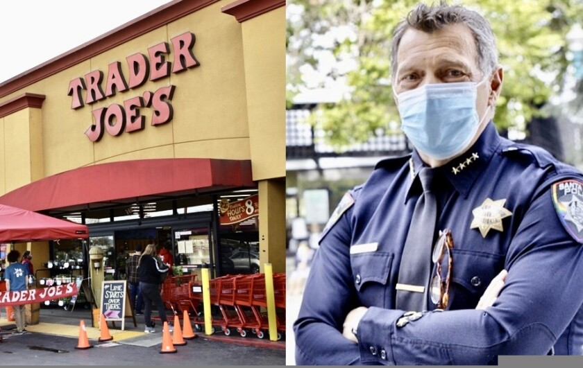 The Santa Cruz Trader Joe's. Santa Cruz police Chief Andy Mills.