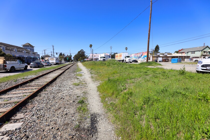 The railroad tracks that run along Murray Street lead from downtown to Seabright.