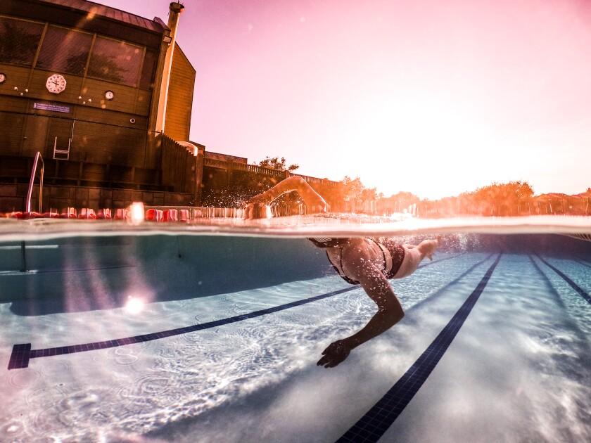Tommy's capture of Katie in swim training.