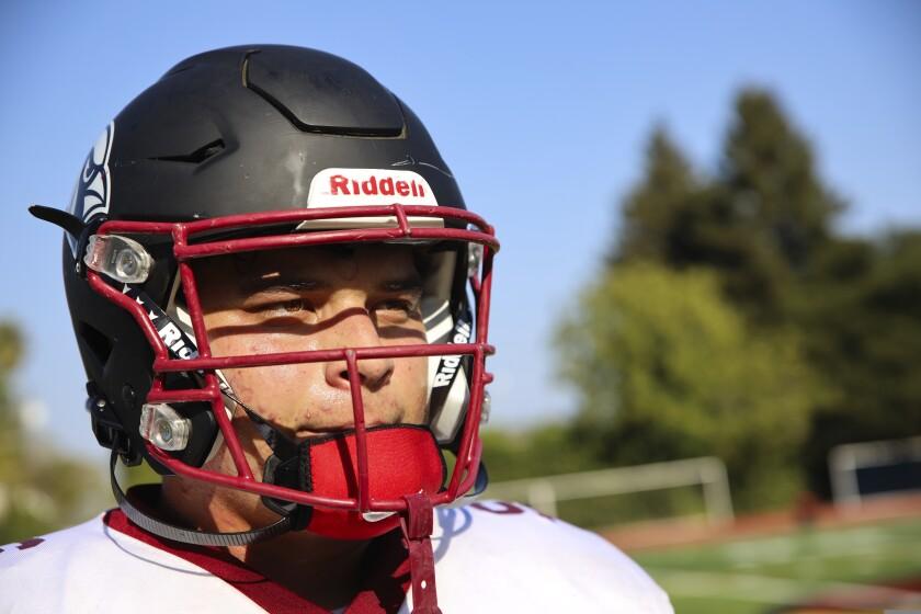 Santa Cruz High quarterback Josh Bendix during Tuesday's practice at the school.