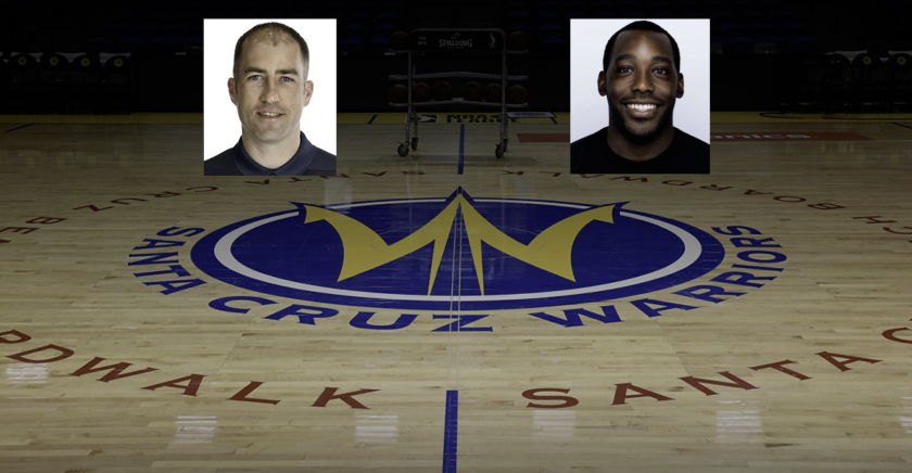 Seth Cooper (left) and David Fatoki take over as coach and general manager, respectively, for the Santa Cruz Warriors.
