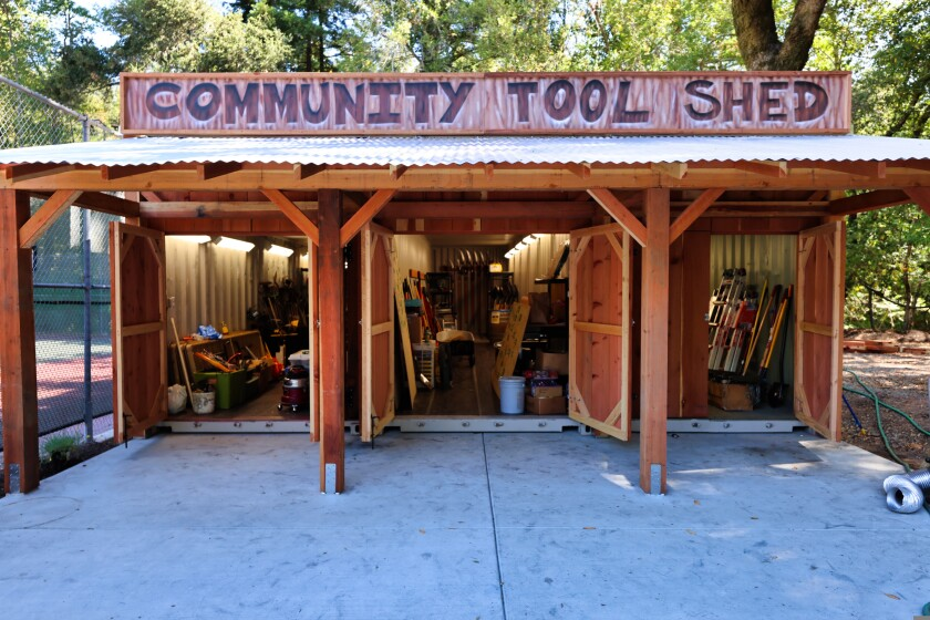 The Community Tool Shed in Boulder Creek