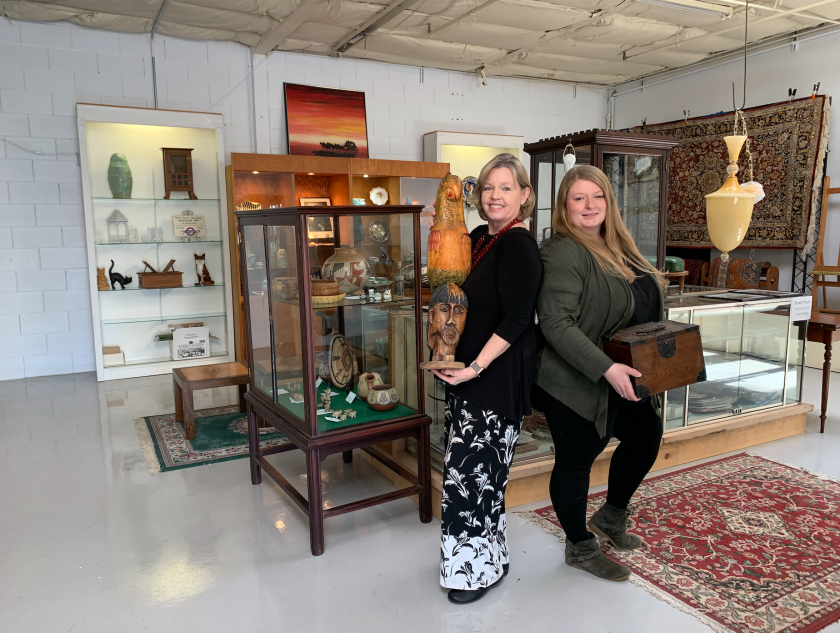 Clark's Auction Company, owned by Patty Clark (pictured left).