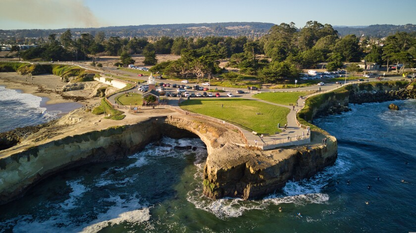 West Cliff Drive view from a drone.