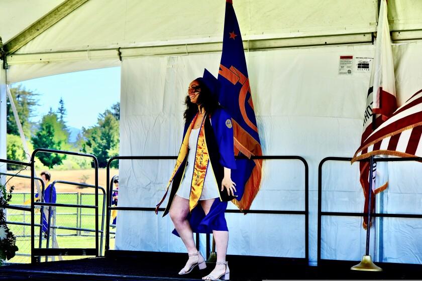 Graduation walk.