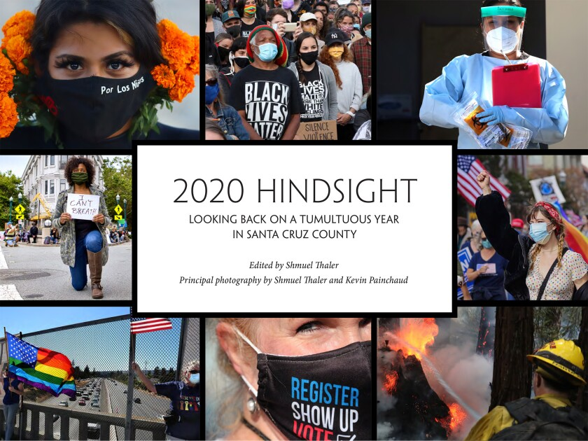 """The """"2020 Hindsight"""" book cover."""