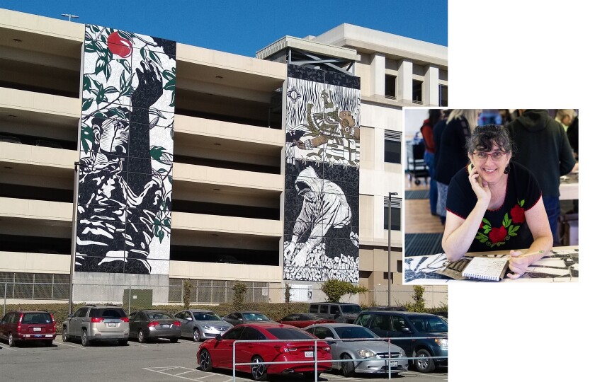 Watsonville Mural with artist Kathleen Crocetti