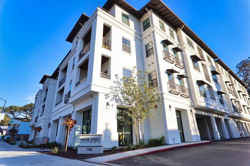 An apartment building on Water Street in Santa Cruz