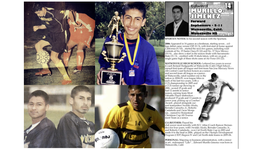 "Edward ""Lalo"" Murillo-Jimenez's soccer career took him to San Jose State."